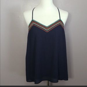 Brand new colorful embroidered top
